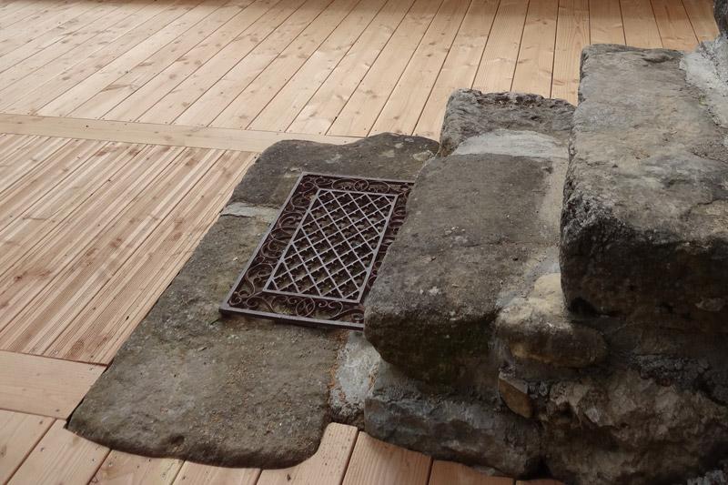 Contour d'escalier en pierres